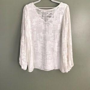 White House Black Market silk blend blouse